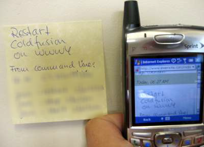 Post It Note on Evernote via cellphone