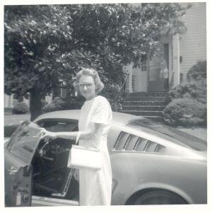 Mom & Mustang 521 Riverside Drive Portsmouth VA 1970