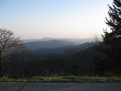Blue Ridge Parkway at dusk.