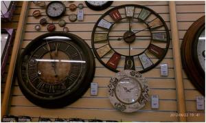 Montage of Clocks on Display