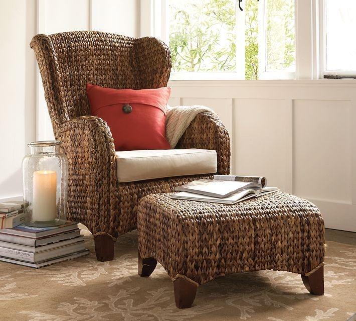 Pottery Barn Sawgrass Wing Chair Amp Ottoman Bill Gibson Ii